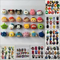 Hot TSUM Avenger Star War PVC shoe charms bracelts charms for shoe/wristbands with holes Croc JIBZ,Kids Party Gifts