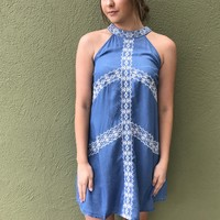 Blissful Days Dress- Denim