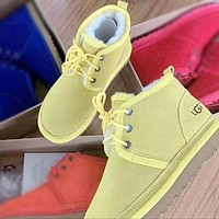 UGG new mid-cut Martin boots fashion wool snow boots non-slip warm shoes men and women snow shoes 2