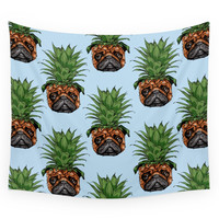 Society6 Pineapple Pug Wall Tapestry