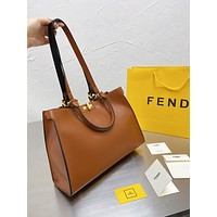 Fendi Women Leather Shoulder Bag Satchel Tote Bag Handbag Shopping Leather Tote Crossbody 03