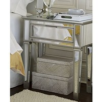 Park Mirrored 1-Drawer Bedside Table