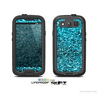 The Turquoise Glimmer Skin For The Samsung Galaxy S3 LifeProof Case