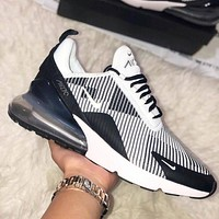 Nike Air Max 270 Flyknit Running shoes with rear half-palm air cushion