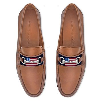 American Flag Downing Bit Loafer by Smathers & Branson
