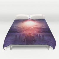 The Space Between Dreams & Reality Duvet Cover by soaring anchor designs