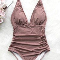 Cupshe Dawn Mist Shirring One-piece Swimsuit