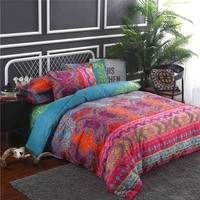 Cool Indian Style Bedding Set Soft Comfortable Queen King Size Duvet Cover With Pillowcase Bed Set Home TextileAT_93_12