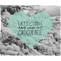 Allyson Johnson Winter Time Love Fleece Throw Blanket
