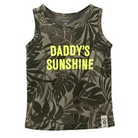 Carter's ''Daddy's Sunshine'' Tropical Tank Top - Baby Girl, Size: