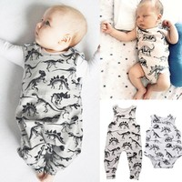 Toddler Kids Baby Boy Girl Romper Dinosaurs Jumpsuit Playsuit Outfits One-pieces