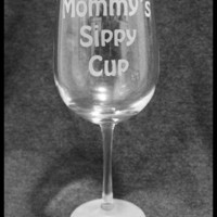Mommy's Sippy Cup Wineglass