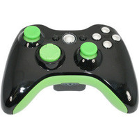 Green Hornet Modded Xbox 360 Controller from Game Console 911 Modz