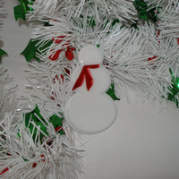 Make your own Snowman ornaments Set of Three ornaments  kit with your  choice of scarf colors with  white acrylic