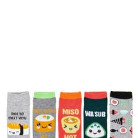 Sushi Ankle Socks - 5 Pack