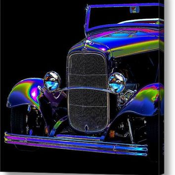 Abstract Ford - Classic Hotrods Canvas Print