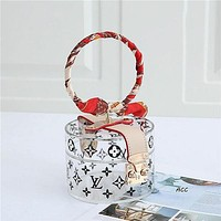 Louis Vuitton LV new ladies transparent exquisite round box bag handbag jewelry box
