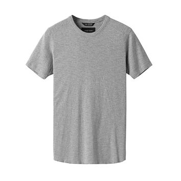 1x1 Slub Short Sleeve in Heather Grey
