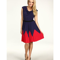 Max and Cleo Monica Pleated City Knit Dress