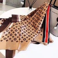 Women's wild travel fashion scarves Brown