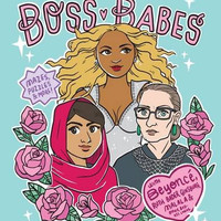 """Boss Babes: A Coloring and Activity Book for Grown-Ups by Michelle Volansky - Plus Free """"Read Feminist Books"""" Pen"""