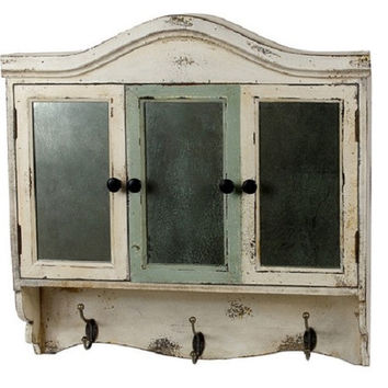 French Country Decor White Cabinet Wall Decor