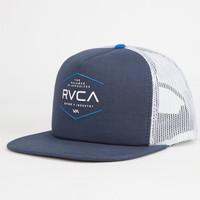 Rvca Industrial Mens Trucker Hat Midnight Blue One Size For Men 25475425501