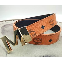 MCM Fashionable temperament versatile printed belt many styles men's and women's belts