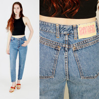 vtg 90s BONGO jeans blue jeans cropped denim high rise mom jeans skinny jeans perfect fit small sm s
