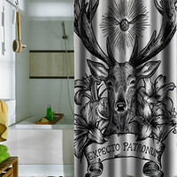 Expecto Patronum Deathly Hallows Harry Potter shower curtains