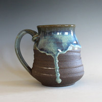 Pottery Coffee Mug, 20 oz, unique coffee mug, handmade ceramic cup, handthrown mug, stoneware mug, wheel thrown pottery mug, ceramics