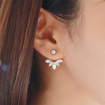 Gold and Silver Plated Crystal Stud Earrings