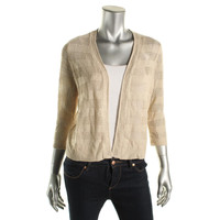 Charter Club Womens Petites Knit Open Front Cardigan Sweater