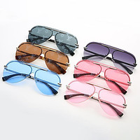 Louis Vuitton LV hot-selling metal all-match sunglasses fashion men and women reflective personality classic beach sunglasses glasses