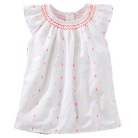 Smocked Swiss Dot Top