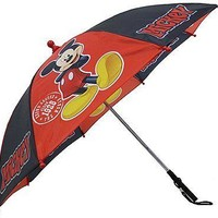 Disney Mickey Mouse Red and Black Boys Umbrella - Toddler