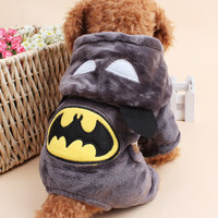 Dog Cats Batman All Seasons Party Costume Soft Uniform Coat Clothes Hoodie For Pet Dog Puppy Cats HOT Cute Apparel FREE SHIPPING _ 5721