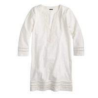 EMBROIDERED THREE-QUARTER SLEEVE BEACH TUNIC