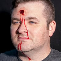 Clear Exit Bullet Wound Prosthetic