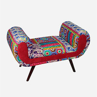 Fabric Wood Bench Multi One Size For Women 27550795701