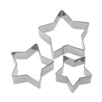 Five-pointed Star Cutters Stainless steel Cookie Fondant Cake Cutters Tools Baking Decoration