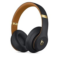 Black gold Beats Solo 3 Wireless Classic Cool Magic Sound Bluetooth Wireless Hands Headset MP3 Music Headphone with Microphone Line-in Socket TF Card Slot