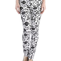 All Over Floral Print Skinny Jeans