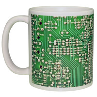 Green Circuit Board Image Wraparond Coffee or Tea Mug