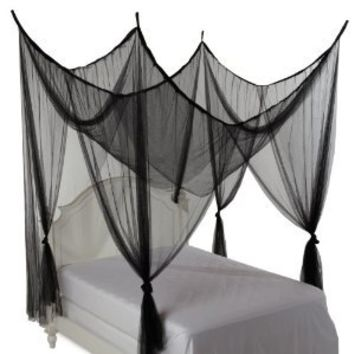 Amazon.com: Heavenly 4-Post Bed Canopy, Black: Home & Kitchen