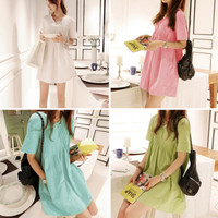 Pregnant Maternity Dresses Casual Pregnancy Clothes For Pregnant Women Clothing Cotton Dress