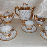 Vintage Sterling China Coffee or Tea Serving Set