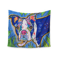 """Rebecca Fischer """"Addy Mae"""" Pug Terrier Wall Tapestry"""
