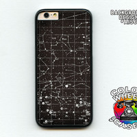 Phone case, Star Map, Constellations, stars, astronomy, black and white vintage, iphone 6, 6 plus, Galaxy, Galaxy Note Colorwheel Cases