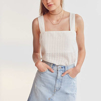 Levi's Deconstructed Denim Mini Skirt | Urban Outfitters